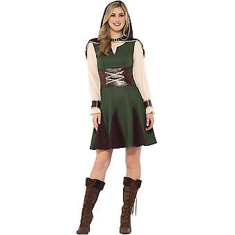 Mittelalter Jägerin Robin Hood Kostüm Größe L Damen Karneval Waldläuferin 47645