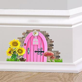 Полноцветный Феи Пикси дверь мило плинтус н