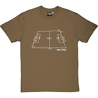 Życie jest Koszulka męska boiska (piłka nożna)