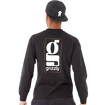Grizzly Black Gentlemans Long Sleeved T-Shirt