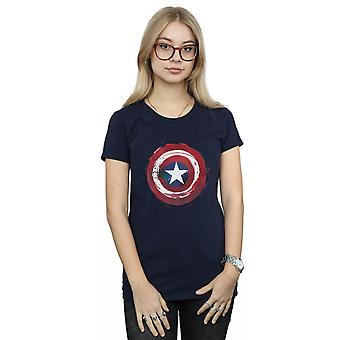 Marvel Women's Captain America Splatter Shield T-Shirt