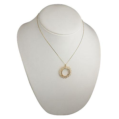 9ct Gold 32mm Full Sovereign mount with a diamond cut Bezel Pendant with a curb Chain 18 inches