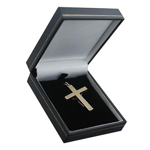 9ct Gold 40x25mm solid block Crucifix Cross