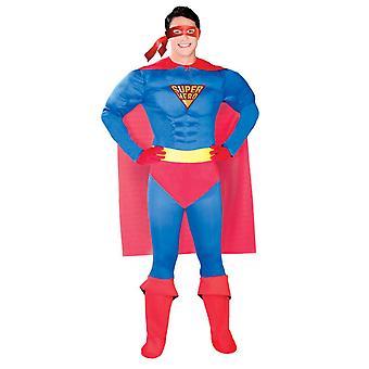 Mens Superhero Muscle Fancy Dress Costume