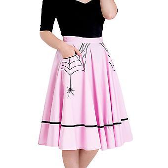 Hell Bunny rosa Miss Muffet kjol L