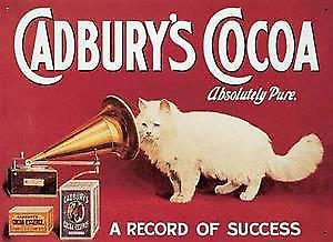 Cadburys Cocoa (cat) Metal Sign