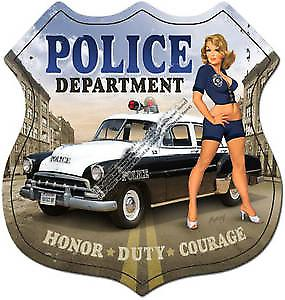 Police Dept. shield metal sign