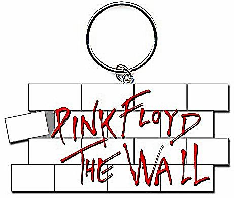 Pink Floyd The Wall shaped metal keyring (ro)