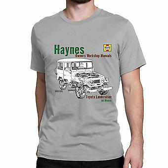 Official Haynes Manual Unisex T-shirt TOYOTA Landcruiser All Models, Owners Workshop Manuals
