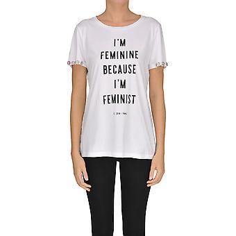 Pinko White Cotton T-shirt