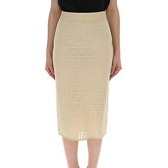 Fendi Beige Cotton Skirt