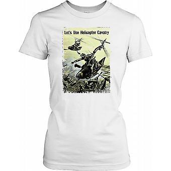Tweede Wereldoorlog 2 Poster - laat gebruik helikopter cavalerie - oorlog In de Stille Oceaan T damesshirt