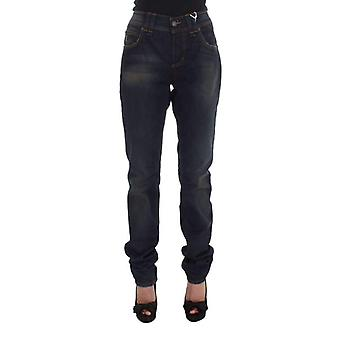 Galliano Blue Wash Cotton Blend Boyfriend Fit Jeans -- SIG3385520