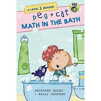 PEG + gato: Matemáticas en el baño: un lector de nivel 1 (Peg + Cat)