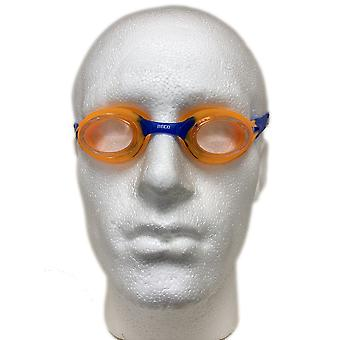 BECO Accra Junior Swimming Goggle - Clear Lenses - Orange/Blue Frame