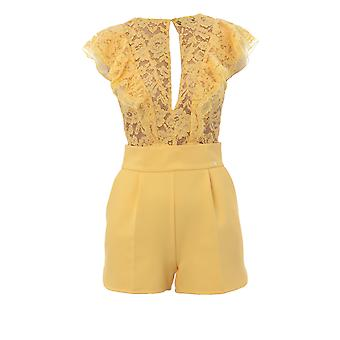 Elisabetta Franchi Yellow Nylon Jumpsuit