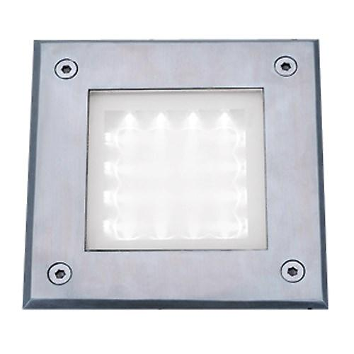 Searchlight 9909WH Led Recessed Square Chrome Walkover Light White Led IP67