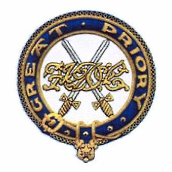 Ridders Templar grote Prioriy mantel badge