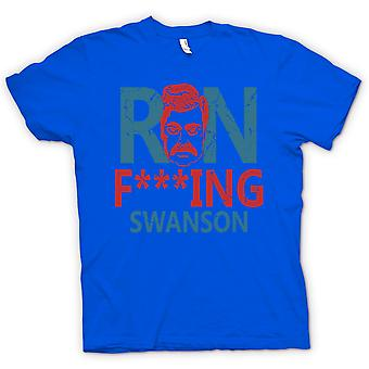 Womens T-shirt-Ron F ** king Swanson