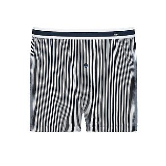 Mey Men 33422-668 Men's Stripe Yacht Blue Cotton Loose Boxer