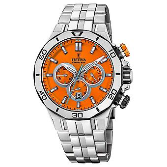 Festina Tour Of Britain 2019 | Stainless Steel  | Orange Dial | F20448/C Watch