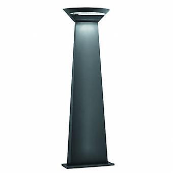 LED de alumínio ao ar livre poste de amarração cinza Ip44