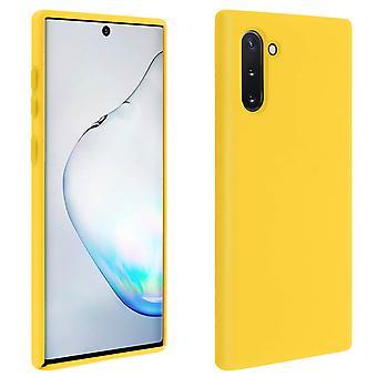 Samsung Galaxy Note 10 Silicone Semi-rigid Case Soft Touch Matte Finish - Yellow