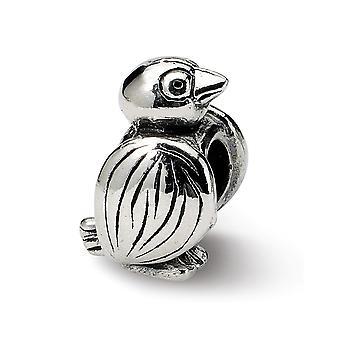 925 hopeinen kiillotettu antiikki viimeistely heijastukset SimStars lintu helmi charmia