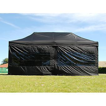 Namiot Ekspresowy FleXtents Easy up pavillon Basic v.2, 3x6m Czarny, mq 6 ściany boczne