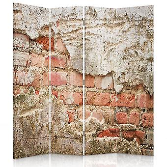 Room Divider, 4 Panels, Double-Sided, Rotatable 360 ??° Canvas, Brick Wall