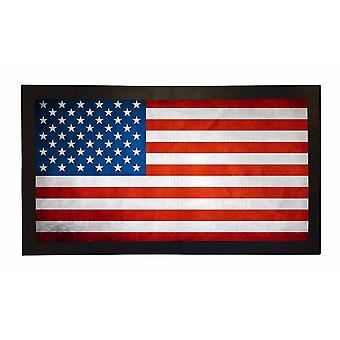 Printed Bar Runner American Flag Rubber Bar Mat Mens Gift Idea