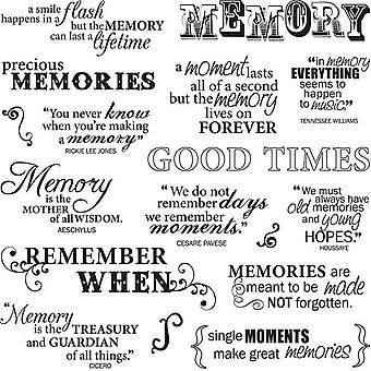 Fiskars Quote Clear Stamps 8
