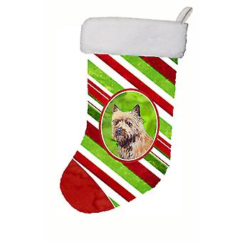 Cairn Terrier Candy Cane Holiday Christmas Christmas Stocking LH9230