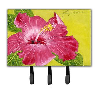 Hot Pink Hibiscus by Malenda Trick Leash or Key Holder TMTR0317TH68