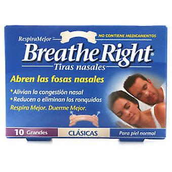 GSK Breathe Right Nasal Strip Large Size 10 Units
