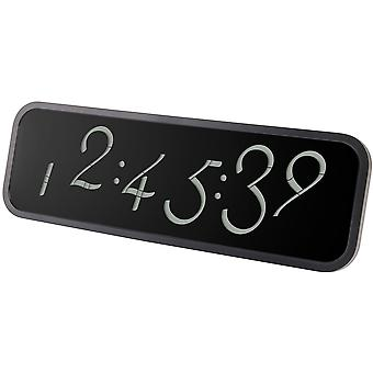 Black Lexon Script Digital Wall Clock