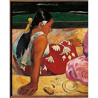 Tahitian Women Poster Print