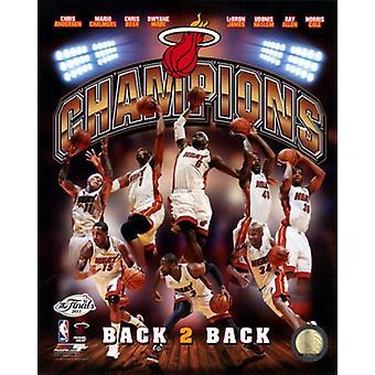 Miami Heat 2013 NBA Champions Composite Sports Photo