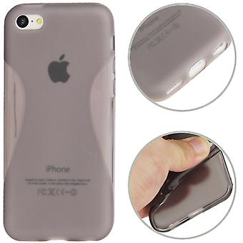 Protective case TPU case iPhone for Mobile 5 C (grey transparent)