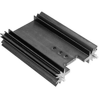Fin heat sink 8.2 C/W (L x W x H) 25.4 x 45 x 11.94 mm TO 220, TOP 3, SOT 32 ASSMANN WSW V7466W
