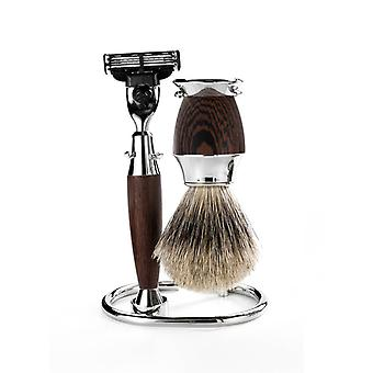 Mondial 1908 Wenge Wood Mens Shaving Set Edition
