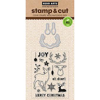 Hero Arts Stamp & Cuts-Antlers HA-DC190