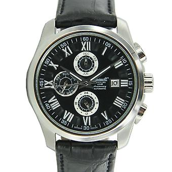 Ingersoll men's watch wristwatch automatic Benton leather IN1220BK