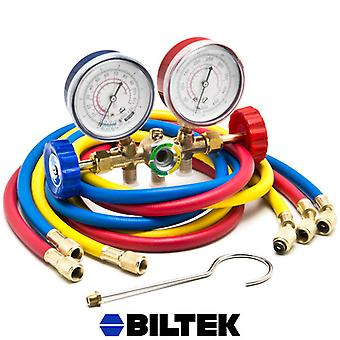 HVAC R12 R22 R502 A/C Diagnostic Manifold Gauge Kit w/ 3 Color 60