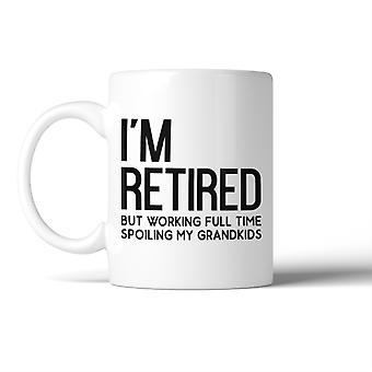 Na emeryturze ale Woking dla wnuków kubek prezenty pomysły dla dziadków