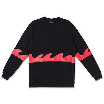 Pink Dolphin Waves Sweatshirt Black