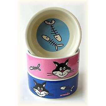 Snugglesafe Ceramic Cat Bowl 13cm (5