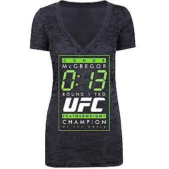 UFC kvinders Conor McGregor 13 sekunder runde 1 TKO T-Shirt-udbrændthed sort