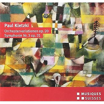 Kletzki / Bamberger Sym / Rosner - Orchestervariationene & Symphonie 3 [CD] USA import