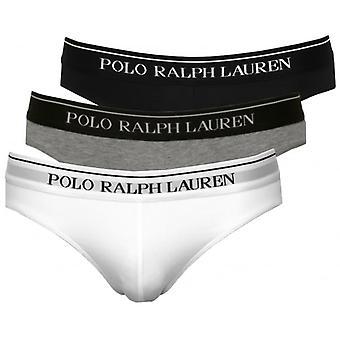 Polo Ralph Lauren klasyczne majtki 3-pak, czarny/szary/biały